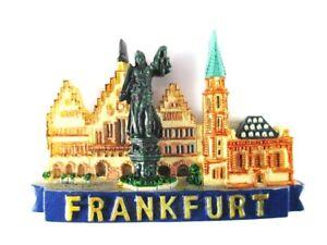 Frankfurt-Roemer-Paulskirche-Germany-Poly-Magnet-Souvenir-Deutschland-Neu
