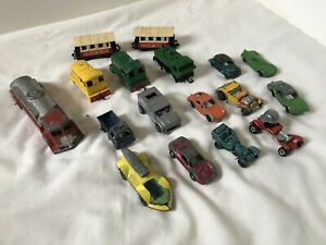 Lot-of-Vintage-Die-Cast-Toy-Cars-Trains-Trucks-Lesney-Tootsietoy-Hot-Wheels