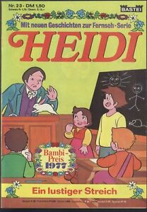 Heidi-Nr-23-von-1978-Neue-Geschichten-zur-Fernseh-Serie-TOP-BASTEI-COMICHEFT