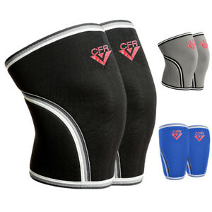 PAIR-7mm-Knee-Sleeves-Support-Power-Weight-Lifting-Squats-Crossfit-Patella-Brace