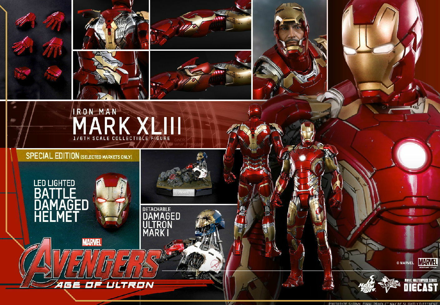 Hot Toys Avengers Age Of Ultron Mark 43 Special Edition MMS278-D09 Free Shipping