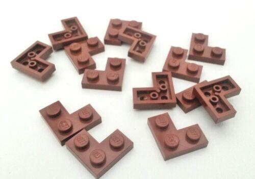 16x marrón rojizo HP479 usada placas de esquina Lego plano