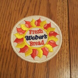 Vintage-Weber-039-s-Bread-Patch-Fresh-Bread-Sun-Red-Pink-Yellow
