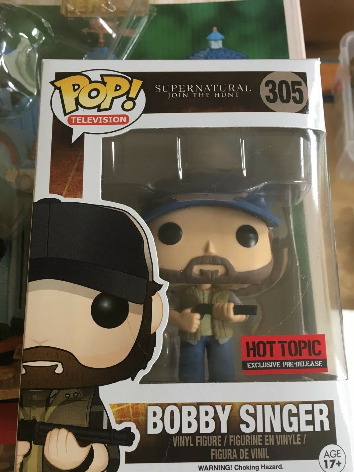 SUPERNATURAL FUNKO BOBBY SINGER EXCL  305 FIGURE- JIM BEAVER  HUNTER WINCHESTERS