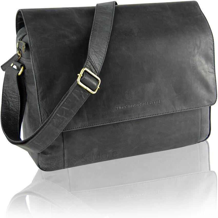 CHESTERFIELD Umhängetasche Umhängetasche Umhängetasche Schultertasche Leder Tasche RANGER Laptop Aktentasche   Marke  8ecc82