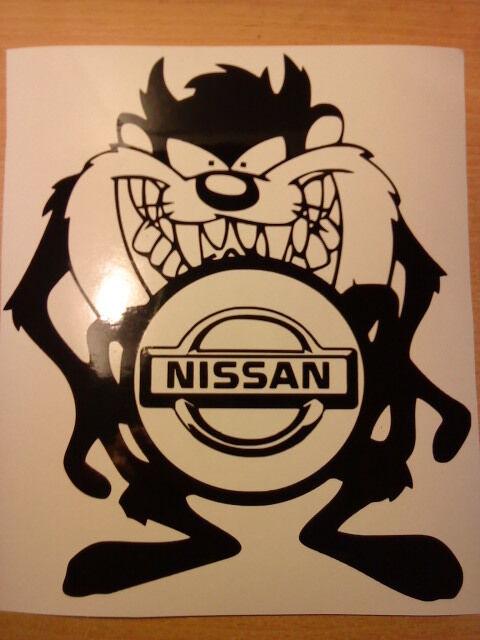 fun nissan vinyl car sticker graphics decals funny novelty rally stock racing