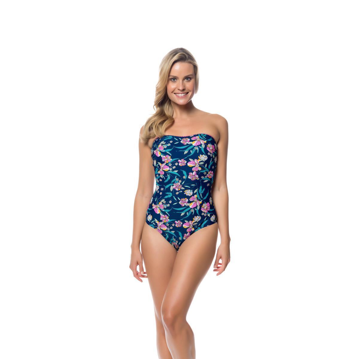 Jessica Simpson Women's Sweet Treat One-Piece Swimsuit 474299-AJ (NI)