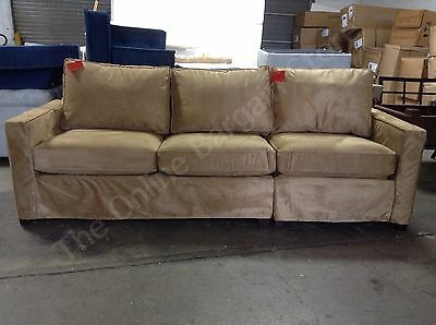 Swell Pottery Barn Cameron Grand Sofa Sectional Loveseat Chair Nutmeg Everydaysuede Ebay Unemploymentrelief Wooden Chair Designs For Living Room Unemploymentrelieforg