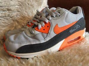 Nike Air Max 90 mens trainers Leather GreyBlackOrange UK