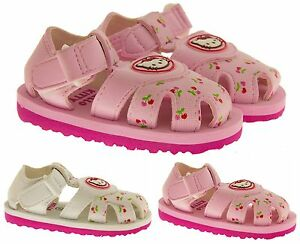 bf0056e7d Baby Girls Hello Kitty Sandals Kids Pink White Beach Summer Shoes ...