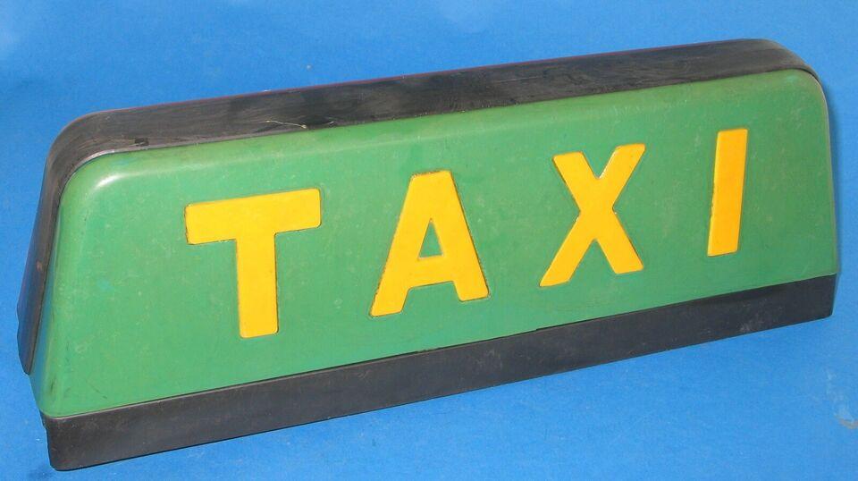 Skilte, Taxiskilt til bil