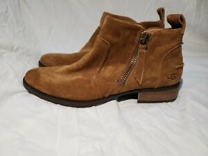 a6f4354a113 Details about UGG WOMEN'S AUREO CHESTNUT SUEDE ZIP UP ANKLE BOOTIES BOOTS  SIZE 8.5 US