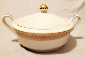 Vintage MCM San Marco By Royal Gallery China Covered Casserole Serving Dish