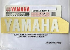 100 Genuine Yamaha 80mm X 18mm White Decal Sticker Badge Logo Uk Stock Ebay