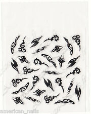 Autocollants Stickers noirs deco Ongle Nail Art Tribal