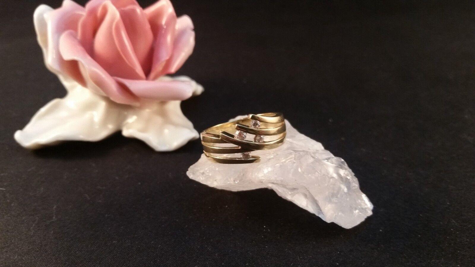 Ring gold  Größe 54 yellowgold Zirkonia