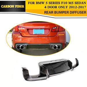 Carbon Fiber Rear Bumper Lower Diffuser Lip Fit For BMW F10 M5 5 series 12-17