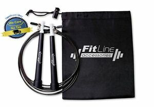 10FT Steel Wire Adjustable Speed Jump Rope Home Gym Crossfit Fitness Exercise