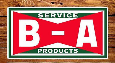 5 Rectangle BA British American Service Vinyl Decals
