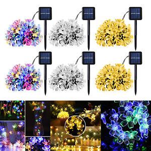8-modalita-20-50LED-Energia-Solare-Cherry-Blossom-Stringa-Fata-Luce-Giardino-Decor-Lampada