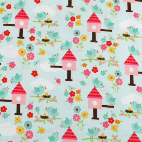 It Is a Good Day Bird Flower By Riley Blake Cotton Quilting Fabric FQ Meter