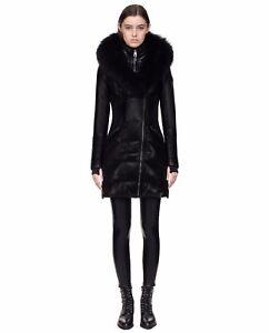 c48025662152 New Authentic Women s RudSak SIA Black Leather Jacket Winter Leather ...