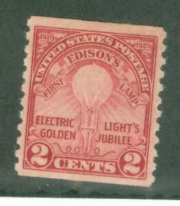 US-656 EDISONS FIRST LAMP 2c issued 1929 MINT  HINGED