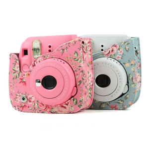 2ce826fcd660 Floral Leather Camera Shoulder Bag Case Cover For Fujifilm Instax ...