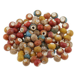 Beads Necklace Crafts Random Color Colorful Loose Ceramic 6mm Vintage Charms