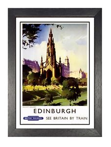 Nottinghamshire Railway Old Advert Poster Beauty Family Holiday View Picture