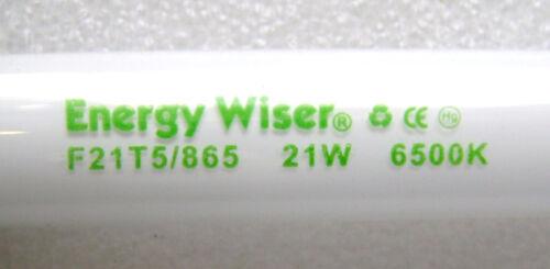 """F21T5//865 2X 21 Watt 34/"""" T5 Mini Bi-Pin G5 Base 6500K Fluorescent Light Bulb"""