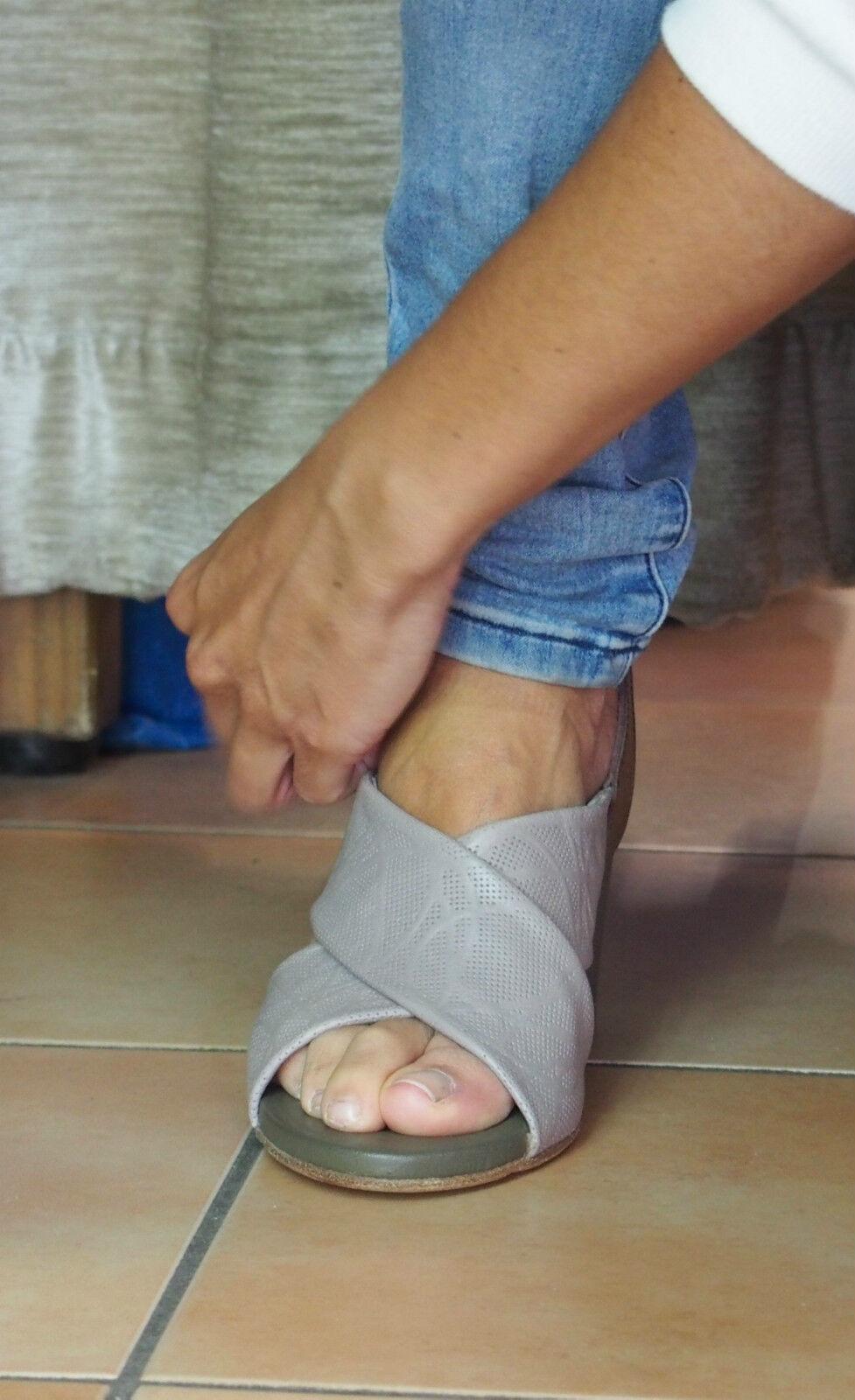 LILIMILL Schuhe ALASKA grau 5741 stone Pumps Echtleder DamenSandaleeen NEU SALE