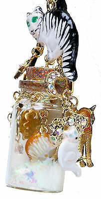 NEW KIRKS FOLLY CURIOUS KITTIES IN A BOTTLE NECKLACE ~~CUTE CATS ~~NEW 2017~~