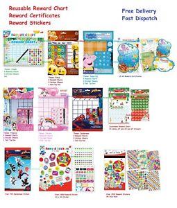 Riutilizzabile-comportamento-Reward-Chart-Asilo-Nido-Star-Stickers-Penna-Riutilizzabile
