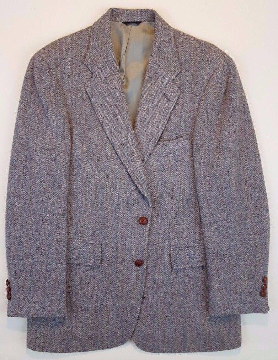 HARRIS Tweed 41L Blazer grau Multicolor WOOL Vintage  Herren 2 Button USA Vented