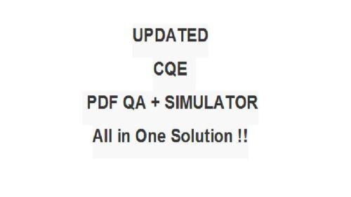 ASQ Certified Quality Engineer Test CQE Exam QA PDF/&Simulator