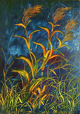 quadro moderno dipinto a olio su tela 50x70 natura paesaggio n° 006 M. RANCURA
