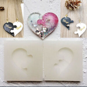 Puzzle-Heart-Silicone-Pendant-Mold-Jewelry-Resin-Necklace-Mould-Casting-Craft