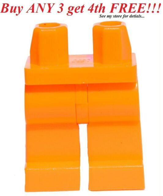 Figure Legs Short GENUINE LEGO Pants NEW LEGO plain Tan Dark x 5