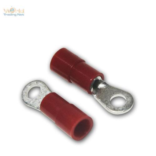 100 TERMINALI ad occhiello m-3 Rosso per 0,5-1,5mm² Cavo /_ m3 TERMINALI ad occhiello