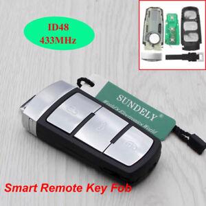 3 BUTTON Car 433 MHz Key Keyless Entry Fob VW Passat CC Magotan ID48 Chip K31
