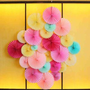 1 X Tissue Paper Fan Flowers Decor Wedding Party Birthday Holiday 6