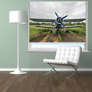 Biplane On The Airfield Plane Scene Printed Photo Picture
