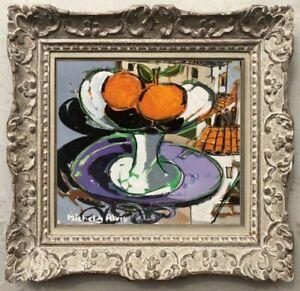 Michel-de-alvis-born-1933-post-cubist-painting-still-life-fruits-1950-4