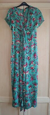 Bnwt Zara Verde Floreale Kimono Stampato Gamba Larga Scollo A V Tutina Taglia Small- Buono Per Succhietto Antipiretico E Per La Gola