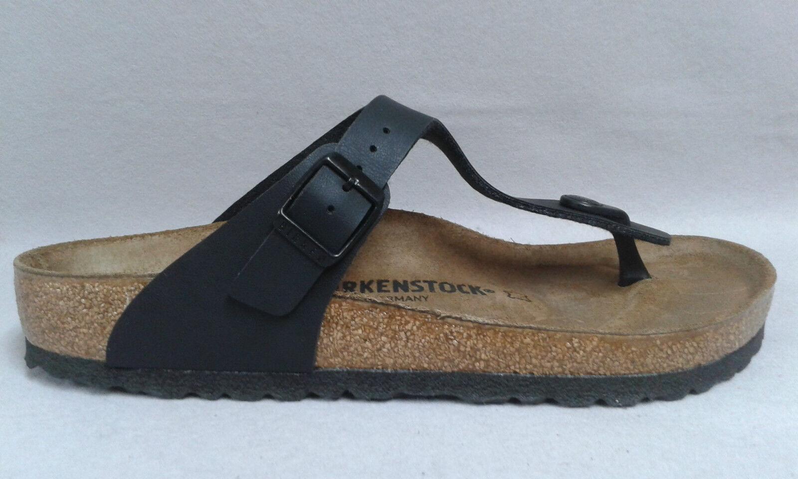 Birkenstock Gizeh schwarz Pantolette Zehensteg Fußbett Kork Zehentrenner 9020