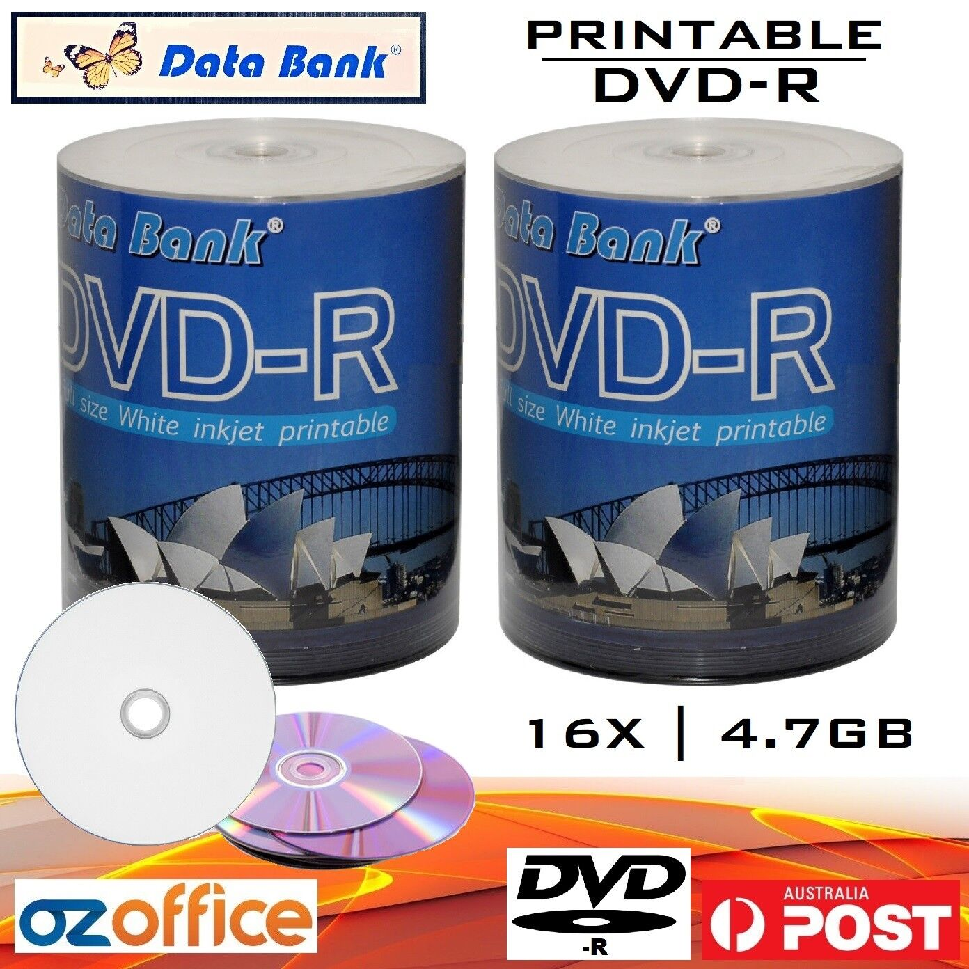 photograph regarding Printable Dvd Discs identified as Information above 200 x Information and facts Financial institution DVD-R 16x Inkjet Printable Blank DVD Discs - Print toward Heart DVD