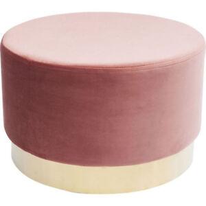 sitzhocker cherry rose samt 35 x 55 cm retro hocker rosa gold farben kare design ebay