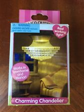 New Rare Calico Critters Charming Chandelier Real Working Light CC2585