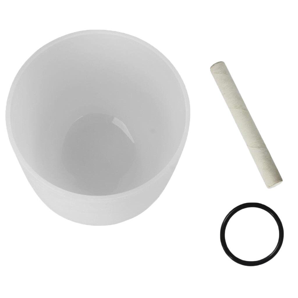 Crystal Singing Bowl gehämmert Set 10Zoll G Note weiß für Meditation